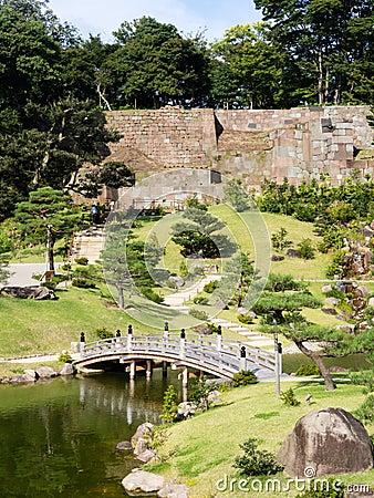 Free Traditional Japanese Landscape Garden On The Grounds Of Kanazawa Castle Royalty Free Stock Image - 66915716