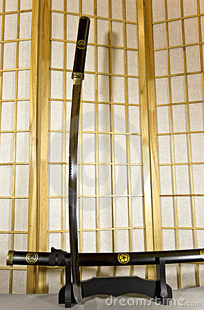 Traditional Japanese samurai sword