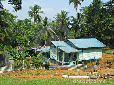 Traditional Kampung House on Stilts