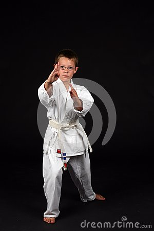 Traditional karate student