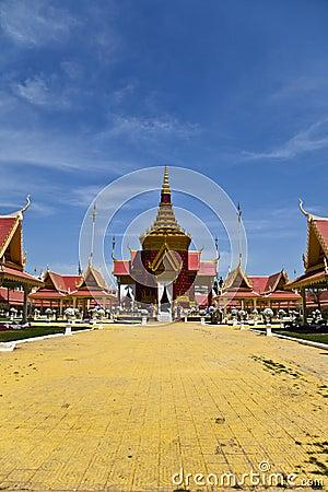 Traditional Khmer architecture in Cambodias Phnom