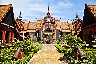 Traditional Khmer Artchitecture at Cambodias Natio