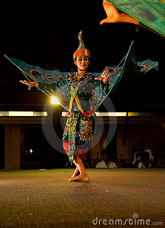 Traditional Khmer dance depicting half bird/human Editorial Photography