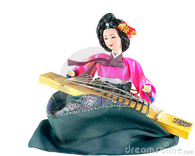 Traditional Korean Doll and Musical Insturment