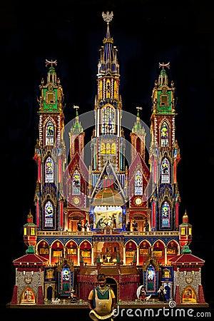 Traditional Krakow Nativity Model - Poland Editorial Image