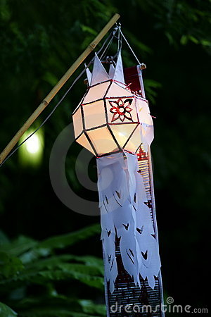 Traditional Lantern at Wat Saket compound.