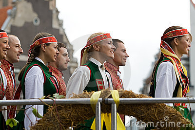 Traditional Latvian folk dancing Editorial Photography