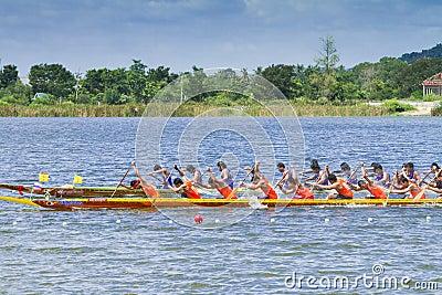 Traditional long boat racing at koa toa huahin 2013 Editorial Photography