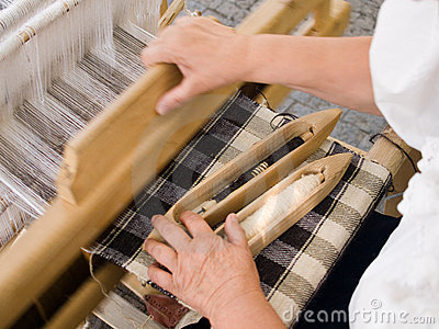 Traditional loom Editorial Photography