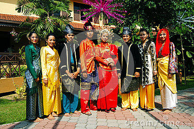 Traditional Malay attire Editorial Stock Image