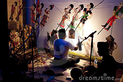 A Traditional Malaysian Shadow Puppet Show Editorial Photography