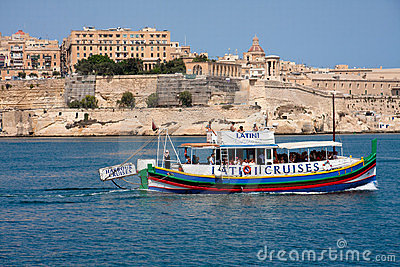 Traditional Maltese Boat Editorial Photo