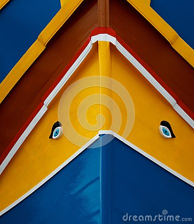 Free Traditional Maltese Colours Background.Traditional Colors And Eyes Found On Typical Malta Fishing Boats.Maltese Fishing Boat Fragm Royalty Free Stock Photography - 78015497