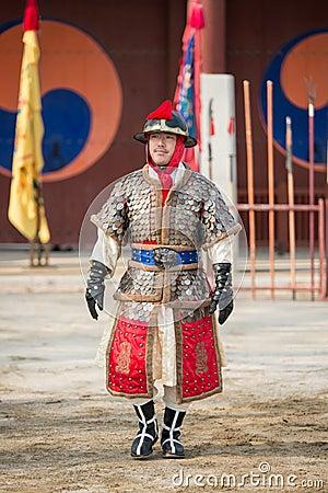Free Traditional Martial Arts Trial Performance, December 23, 2016, Gyeonggi-do, Suwon-si, South Korea Stock Images - 83041404