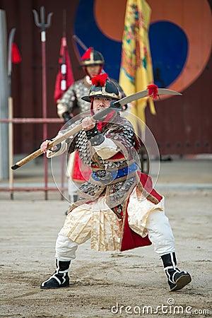 Free Traditional Martial Arts Trial Performance, December 23, 2016, Gyeonggi-do, Suwon-si, South Korea Stock Photo - 83041580