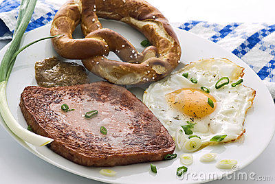 Traditional meat loaf with egg