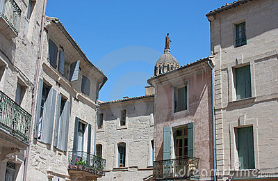 Traditional medieval houses - Uzes, France
