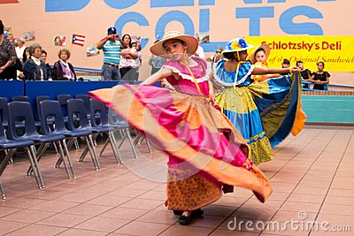 Traditional mexican dance indoors Editorial Stock Image