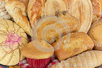 Traditional Mexican Sweet Bread Close Up