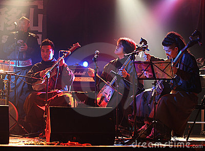 Traditional Mongolian Folk Music Concert Editorial Stock Image