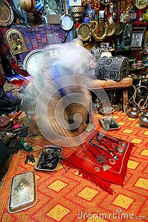Traditional moroccan souvenir shop