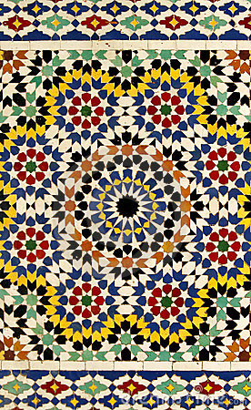Free Traditional Moroccan Tile Pattern Royalty Free Stock Image - 10840346