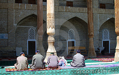 Traditional mosque in Uzbekistan Editorial Photography
