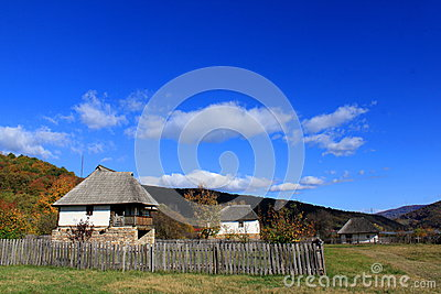 Traditional mountain village in Romania