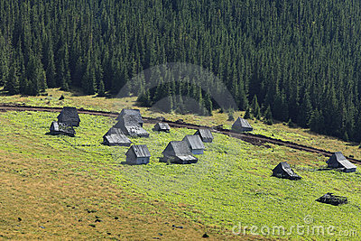 Traditional mountain village in Transylvania