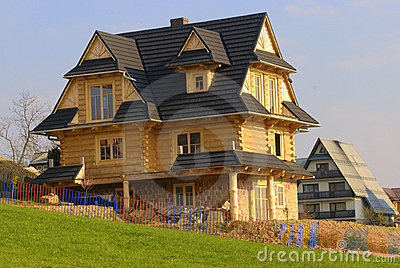Traditional mountain wooden house