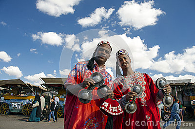 Traditional musicians in Marrakesh Editorial Photography