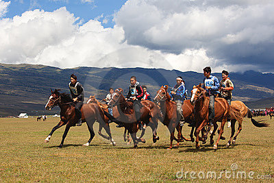 Traditional national nomad horse riding Editorial Image