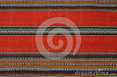 Traditional colorful native american rug