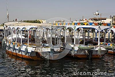 Traditional Nile motoboat