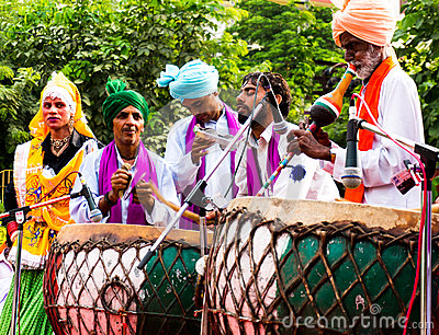 Traditional north indian musicians Editorial Photo