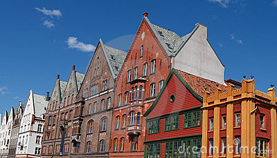 Traditional old Houses in Bergen, Norway