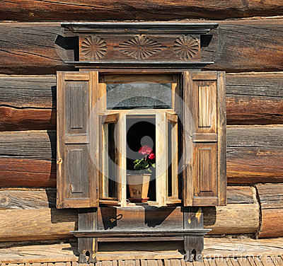 Traditional old russian window