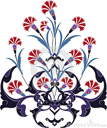 Traditional ottoman turkey turkish tulip design