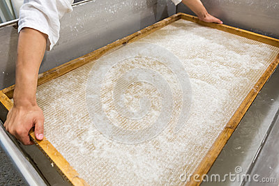 The traditional papermaking