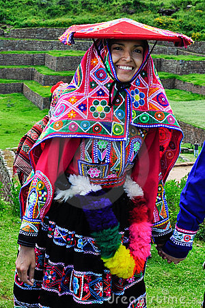 Traditional peruvian bride Editorial Stock Image