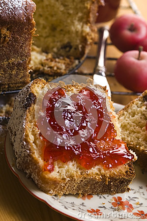 Free Traditional Polish Cake With Apple Marmelade Stock Photography - 26192832