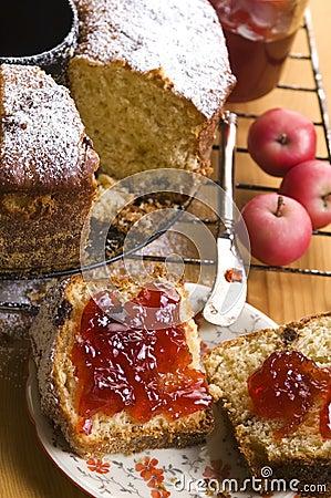 Free Traditional Polish Cake With Apple Marmelade Royalty Free Stock Image - 26192866