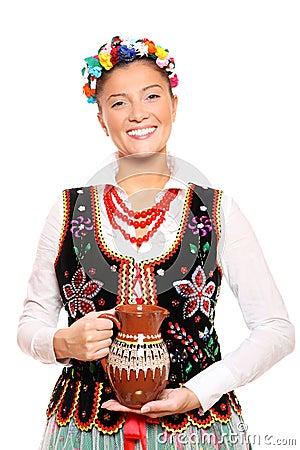 Traditional Polish girl