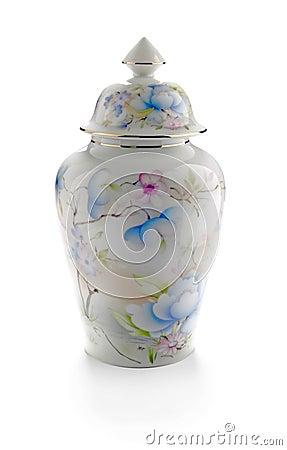 Traditional porcelain pot