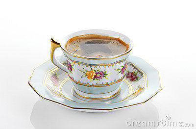 Traditional porcelain set of coffee
