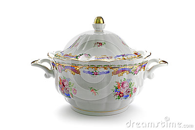 Traditional porcelain tureen