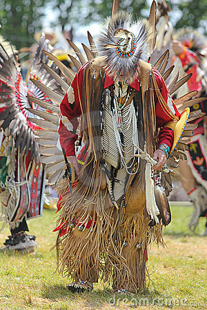 Traditional Pow wow on Mohawk Territory. Editorial Image