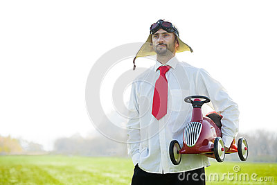 Traditional racecar driver