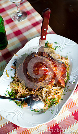 Smoked ham and cabbage stew - Romanian recipe