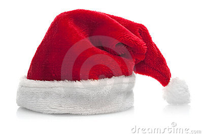 Traditional red santa claus hat